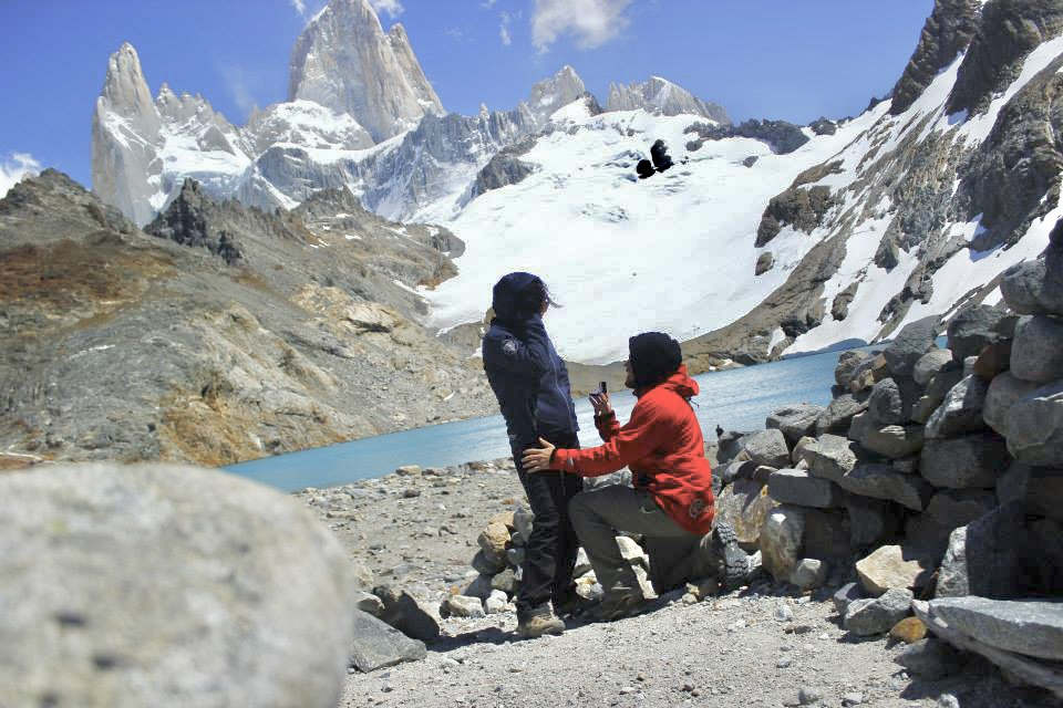 Engagement picture in Patagonia